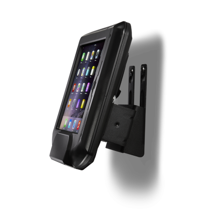 Infinea Omni barcode scanner - wall mounted side view